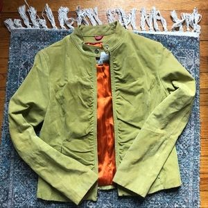 Wilsons Leather Suede Women's Lime Green Jacket